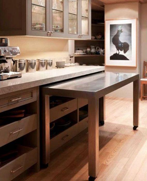 Где найти место для обеденного стола на маленькой кухне: Практический совет