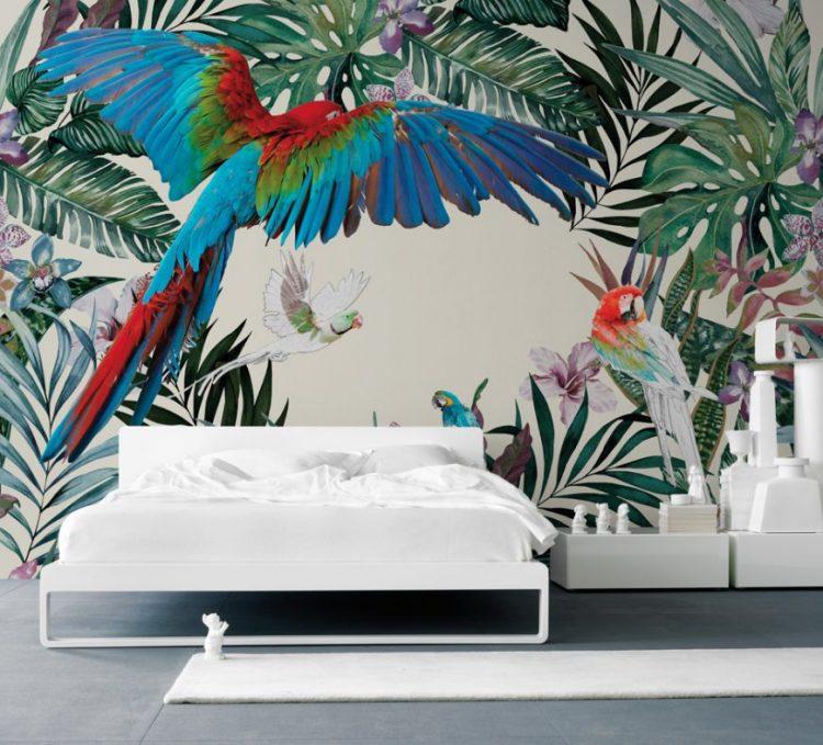 Хит в дизайне: Тропические принты в интерьере