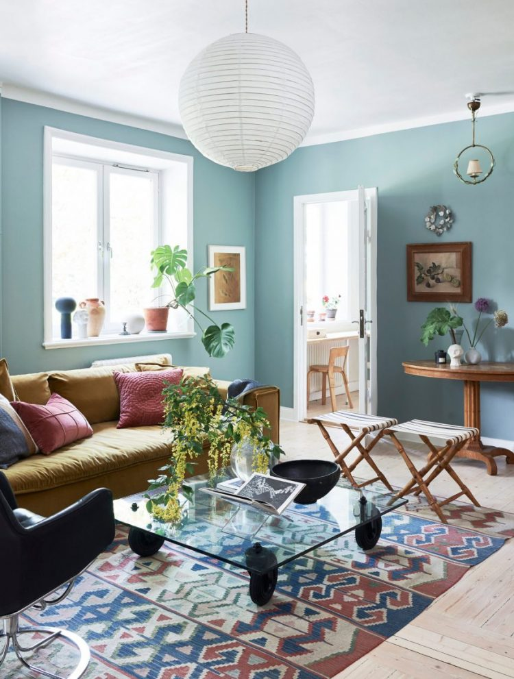 Скандинавский голубой: Дом стилиста Софии Вуд