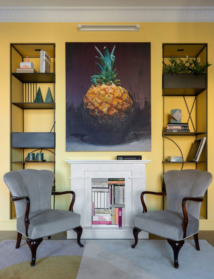 Желтая и креативная: Дизайн московской квартиры