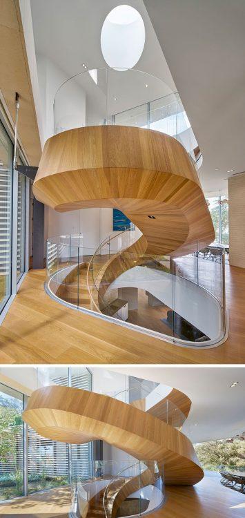 Современные винтовые лестницы в доме