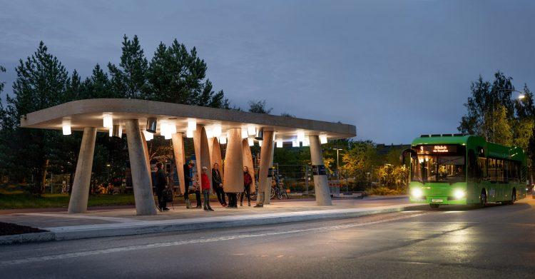 """В Швеции создали """"умную"""" автобусную остановку"""