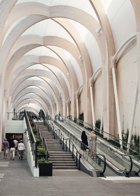 Make Architects завершает арочный свод для торгового центра Chadstone