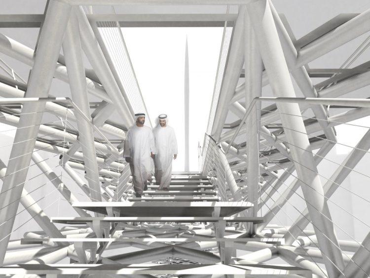 Пешеходный мост Дубай-Крик построят рядом с самым высоким сооружением в мире