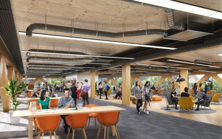 Feilden Clegg Bradley Studios проектирует офис с нулевым выбросом углерода в Лондоне