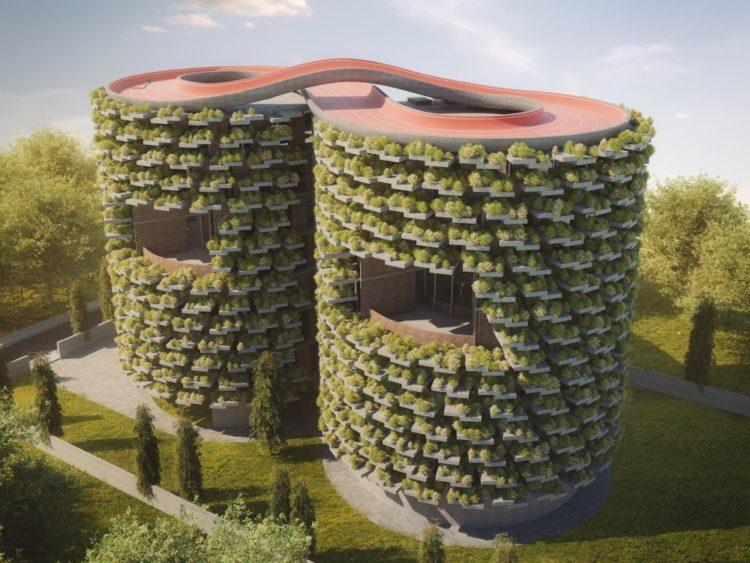 Лесная школа в Пуне в форме башен