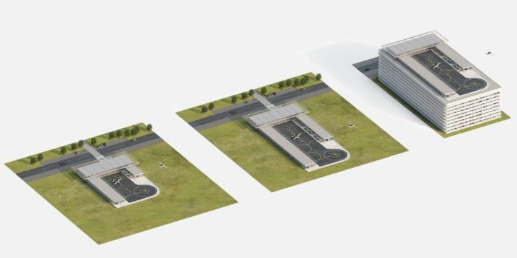 Стартап летающих такси Lilium раскрыл проект дизайна для вертипортов