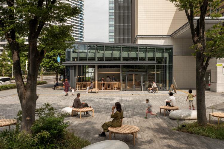 Кафе Blue Bottle Coffee в Иокогаме: натуральные материалы