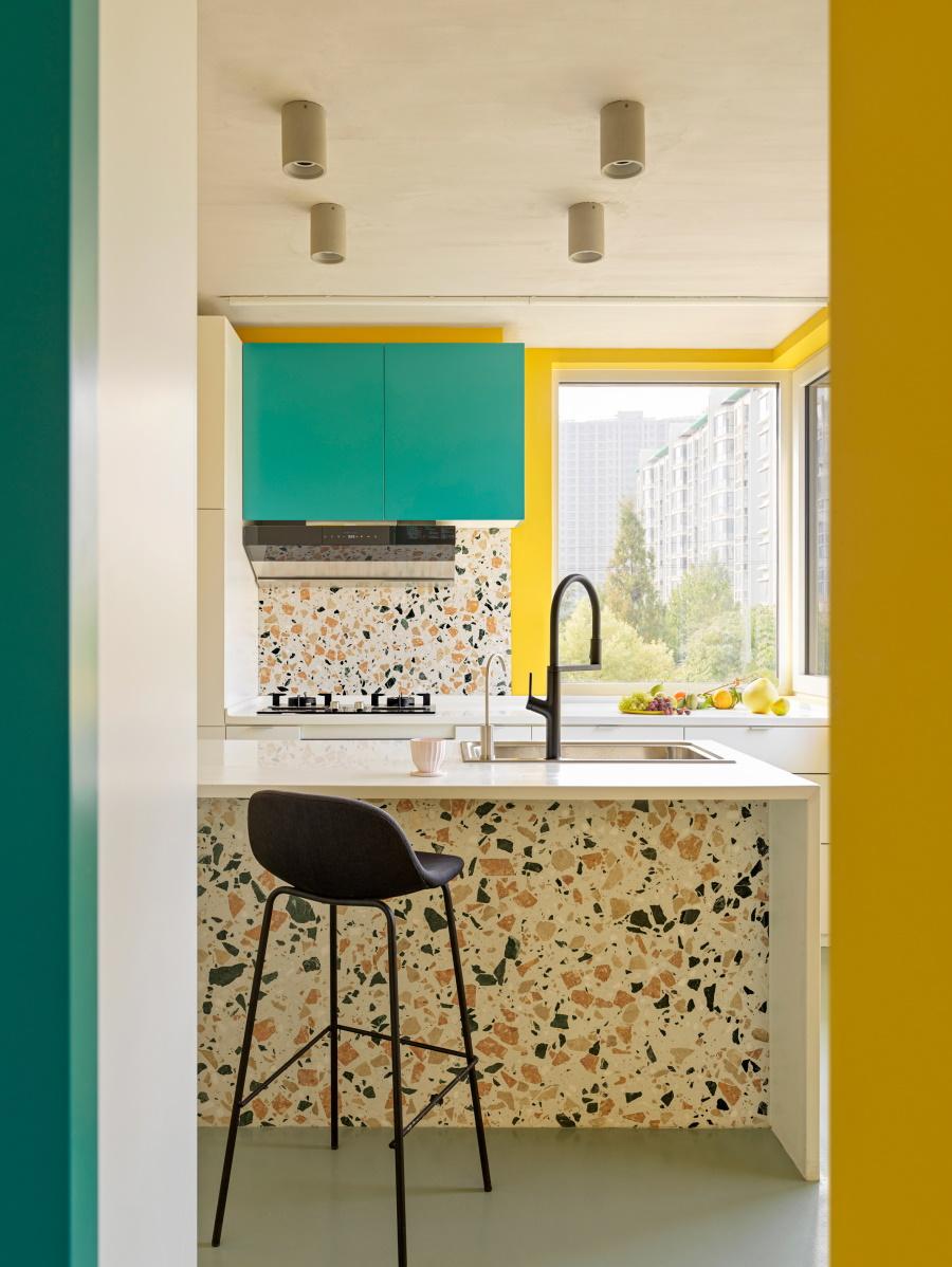 Пять дизайнерских кухонь с элементами терраццо