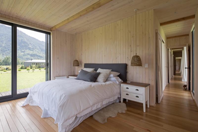 Модульный домик с видом на озеро в Чили